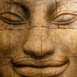 Пример нанесения художественного покрытия - образец Art-Buddha