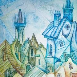 Пример нанесения художественного покрытия - образец Art-Kubizm